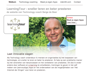 Oude website LearningTour